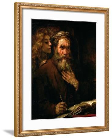 St. Matthew and the Angel, 1655-60-Rembrandt van Rijn-Framed Giclee Print