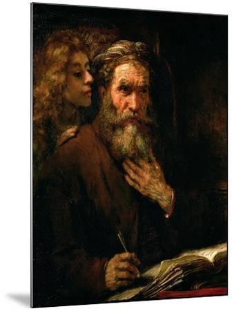 St. Matthew and the Angel, 1655-60-Rembrandt van Rijn-Mounted Giclee Print