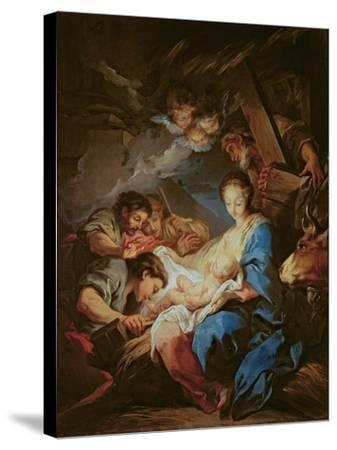 The Adoration of the Shepherds-Carle van Loo-Stretched Canvas Print