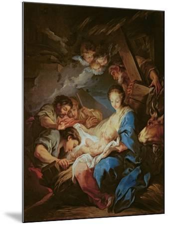 The Adoration of the Shepherds-Carle van Loo-Mounted Giclee Print