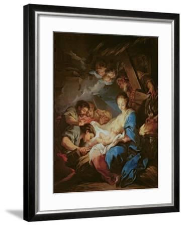 The Adoration of the Shepherds-Carle van Loo-Framed Giclee Print