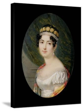 Portrait Miniature of the Empress Josephine-Andre Leon Larue-Stretched Canvas Print