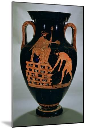 Attic Red-Figure Belly Amphora Depicting Croesus on His Pyre, from Vulci, circa 500-490 BC- Myson-Mounted Giclee Print