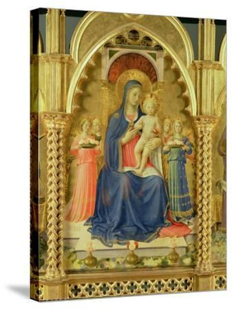 The Perugia Altarpiece, Central Panel Depicting the Madonna and Child-Fra Angelico-Stretched Canvas Print