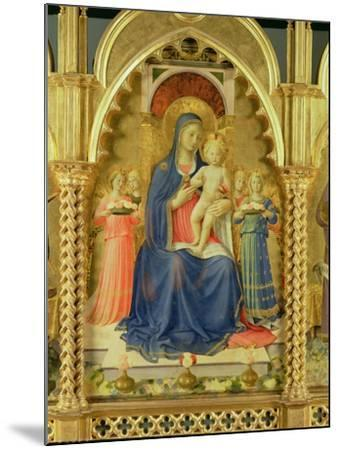The Perugia Altarpiece, Central Panel Depicting the Madonna and Child-Fra Angelico-Mounted Giclee Print