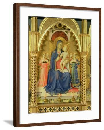 The Perugia Altarpiece, Central Panel Depicting the Madonna and Child-Fra Angelico-Framed Giclee Print