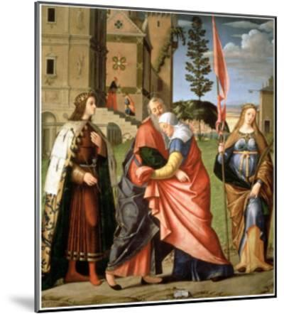 The Meeting at the Golden Gate with Saints, 1515-Vittore Carpaccio-Mounted Giclee Print
