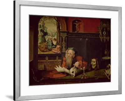 The Meditation of St. Jerome-Quentin Metsys-Framed Giclee Print