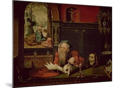 The Meditation of St. Jerome-Quentin Metsys-Mounted Giclee Print