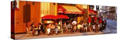 Cafe, Paris, France--Stretched Canvas Print