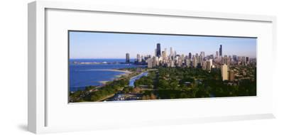 Aerial View of Skyline, Chicago, Illinois, USA--Framed Photographic Print