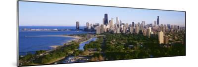 Aerial View of Skyline, Chicago, Illinois, USA--Mounted Photographic Print