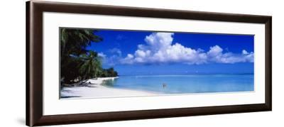 Ocean, Water, Clouds, Relaxing, Matira Beach, Tahiti, French Polynesia, South Pacific, Island--Framed Photographic Print