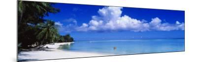 Ocean, Water, Clouds, Relaxing, Matira Beach, Tahiti, French Polynesia, South Pacific, Island--Mounted Photographic Print