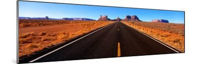 Empty Road, Clouds, Blue Sky, Monument Valley, Utah, USA--Mounted Photographic Print