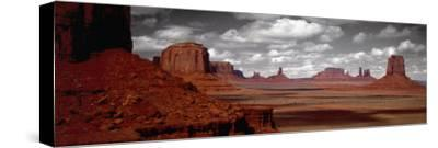 Mountains, West Coast, Monument Valley, Arizona, USA--Stretched Canvas Print