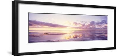 Sunrise on Beach, North Sea, Germany--Framed Photographic Print