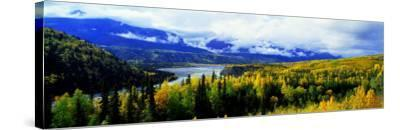 Panoramic View of a Landscape, Yukon River, Alaska, USA--Stretched Canvas Print