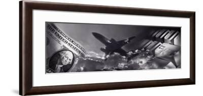 Time, Currency, Money, Still Life, Collage--Framed Photographic Print