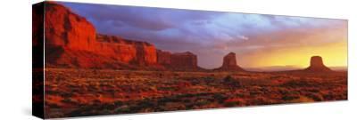 Sunrise, Monument Valley, Arizona, USA--Stretched Canvas Print