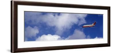 Passenger Jet, Flying, Clouds--Framed Photographic Print