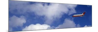 Passenger Jet, Flying, Clouds--Mounted Photographic Print