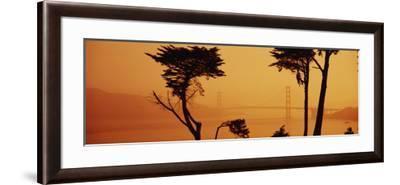 Bridge Over Water, Golden Gate Bridge, San Francisco, California, USA--Framed Photographic Print