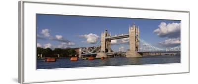 Bridge Over a River, Tower Bridge, Thames River, London, England, United Kingdom--Framed Photographic Print