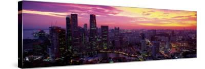 Cityscape, Sunset, Singapore--Stretched Canvas Print