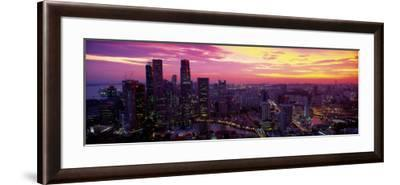 Cityscape, Sunset, Singapore--Framed Photographic Print