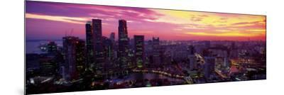 Cityscape, Sunset, Singapore--Mounted Photographic Print