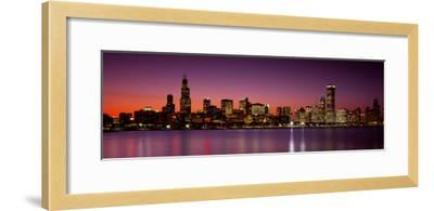 Dusk, Skyline, Chicago, Illinois, USA--Framed Photographic Print