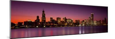 Dusk, Skyline, Chicago, Illinois, USA--Mounted Photographic Print