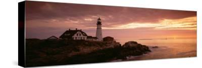 Portland Head Lighthouse, Cape Elizabeth, Maine, USA--Stretched Canvas Print
