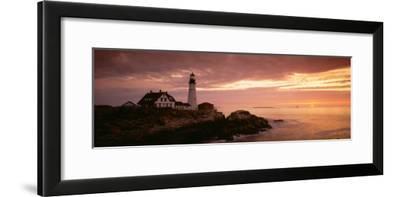 Portland Head Lighthouse, Cape Elizabeth, Maine, USA--Framed Photographic Print
