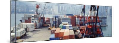 Shipping Containers, Victoria Harbor, Hong Kong, China--Mounted Photographic Print