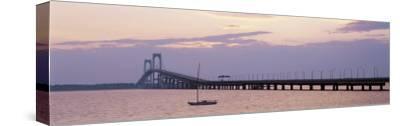 Newport Bridge, Narragansett Bay, Rhode Island, USA-Elizabeth Yardley-Stretched Canvas Print