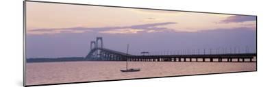 Newport Bridge, Narragansett Bay, Rhode Island, USA-Elizabeth Yardley-Mounted Photographic Print