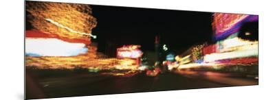 The Strip at Night, Las Vegas, Nevada, USA--Mounted Photographic Print