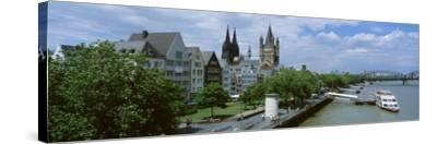 Rhine River, Cologne, Germany--Stretched Canvas Print