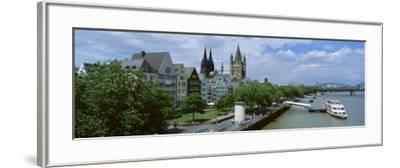 Rhine River, Cologne, Germany--Framed Photographic Print