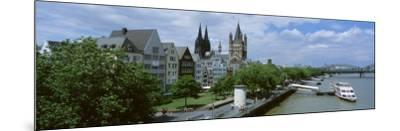 Rhine River, Cologne, Germany--Mounted Photographic Print