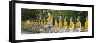 Statues of Buddha in a Temple, Wat Yai Chai Ya Mongkhon, Ayuthaya, Thailand--Framed Photographic Print