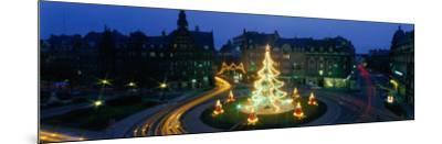 Christmas Lights, Metz, France--Mounted Photographic Print