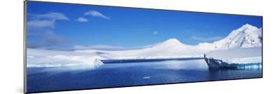 Icebergs, Antarctica--Mounted Photographic Print