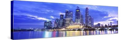 Evening, Singapore--Stretched Canvas Print