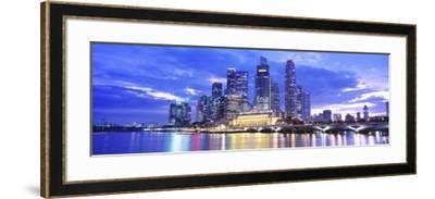 Evening, Singapore--Framed Photographic Print