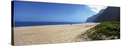 Mountain on the Beach, Pouhale Beach, Kauai, Hawaii, USA--Stretched Canvas Print