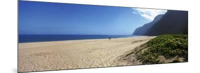 Mountain on the Beach, Pouhale Beach, Kauai, Hawaii, USA--Mounted Photographic Print