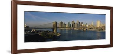 Bridge Across a River, Brooklyn Bridge, New York City, New York State, USA--Framed Photographic Print
